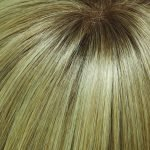 24B613S12 medium ash blonde & pale gold blonde blend & tipped, shaded with light gold brown