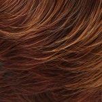 32BF Medium natural red base with medium red gold blonde tips & dark medium red nape